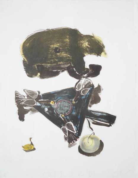 Clockwork Bear with Wooden Birds