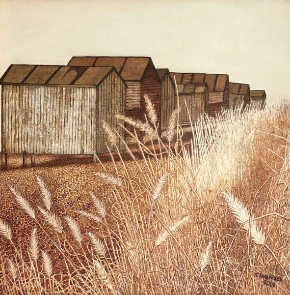 Beach Hut and Grasses
