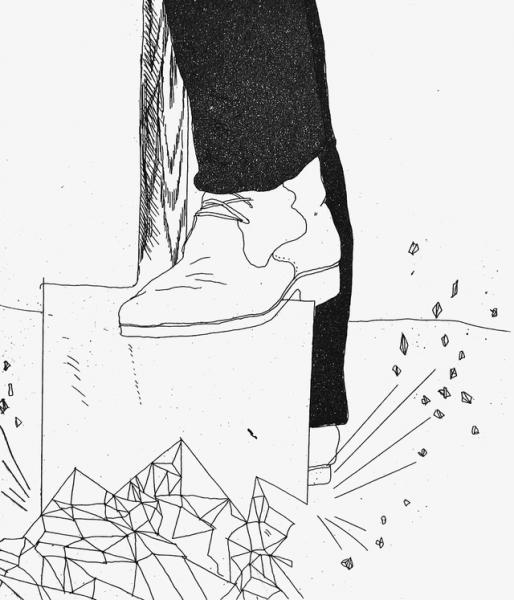 Digging up Glass by David Hockney  RA RCA (1937)