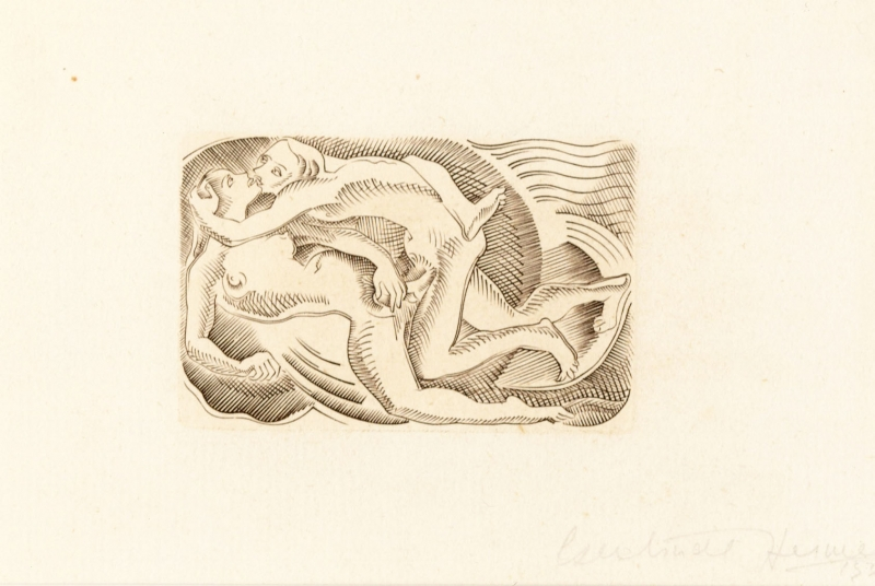 Lovers III (to be sold as part of a set of 4) by Gertrude Hermes OBE RA (1901 - 1983)