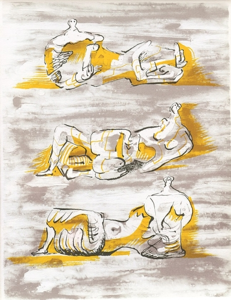 Three reclining Figures