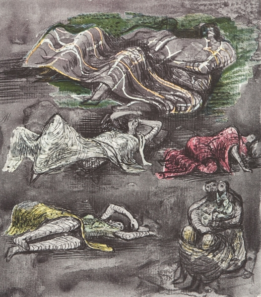 Untitled 'Henry Moore Shelter Sketchbook'