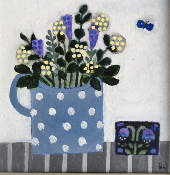 Flowers in a Spotty Mug