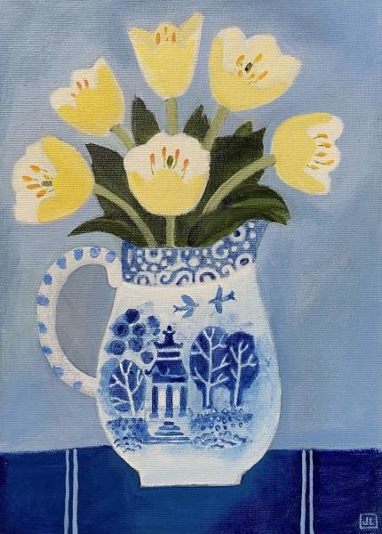 Tulips in a favouite Jug by Jill Leman  PRWS RBA