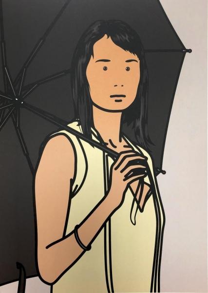 Hijiri with umbrella by Julian Opie (1958)