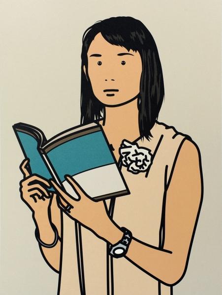 Hijiri with book by Julian Opie (1958)
