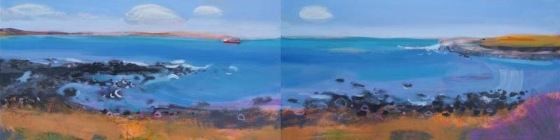 Nare Beach Cornwal by Kate Lowe