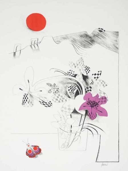 Fritillaries by Mary Fedden OBE RA (1915 - 2012)