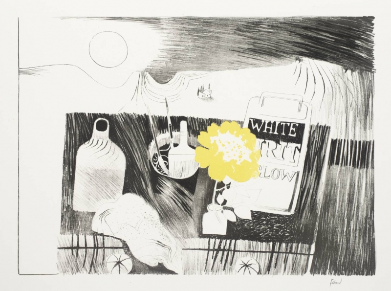 Etching Table by Mary Fedden OBE RA (1915 - 2012)