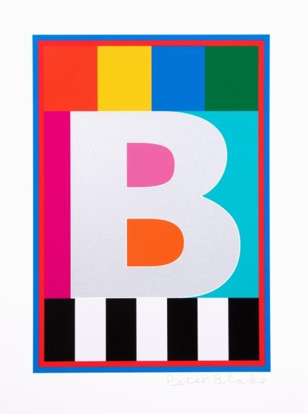 B from the Dazzle Alphabet