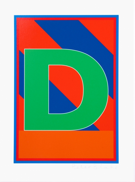 D from the Dazzle Alphabet