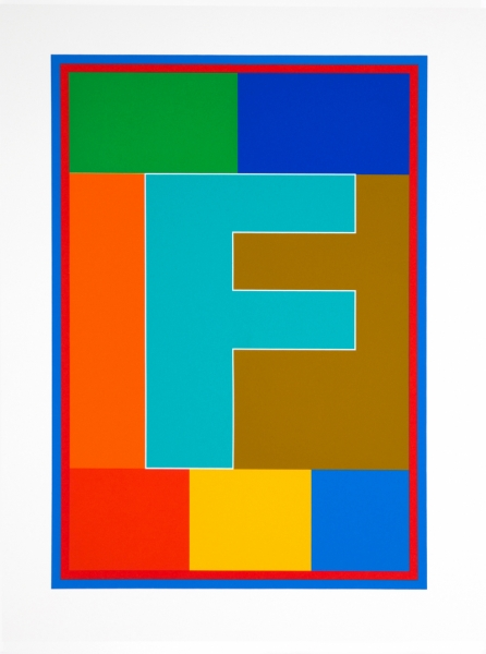 F from the Dazzle Alphabet