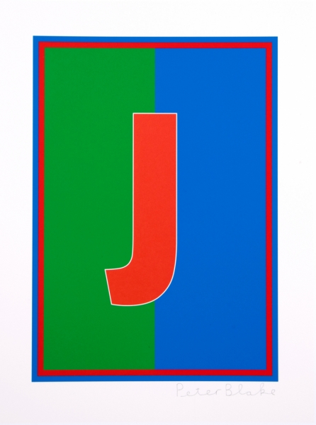 J from the Dazzle Alphabet