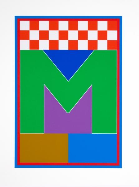 M from the Dazzle Alphabet