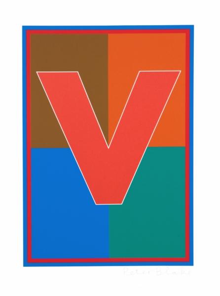 Dazzle Alphabet V