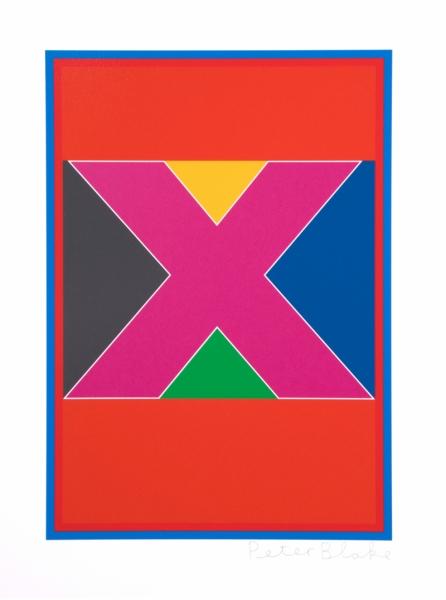 Dazzle Alphabet X