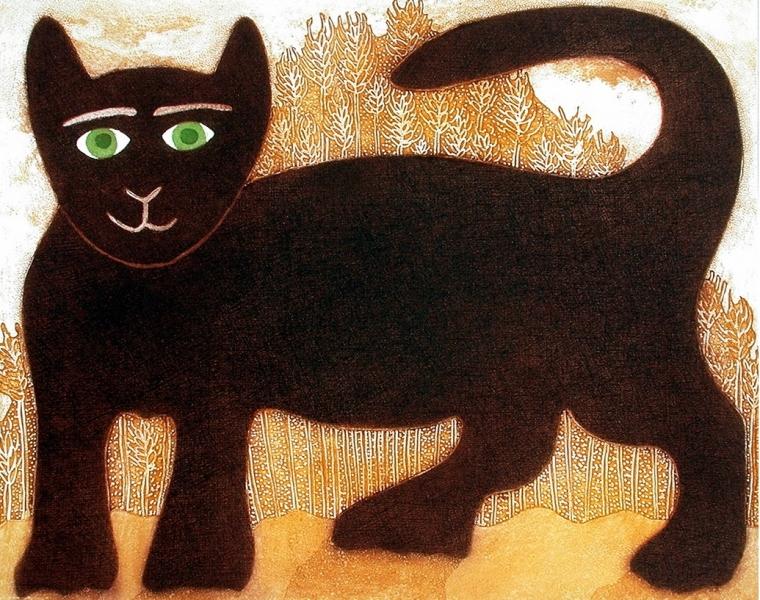 Harvest Cat by Sanchia Lewis (1960)