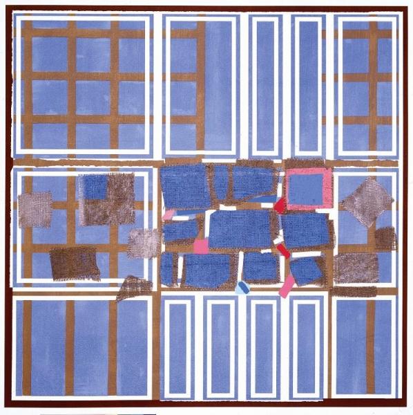Blue Brown Interweave