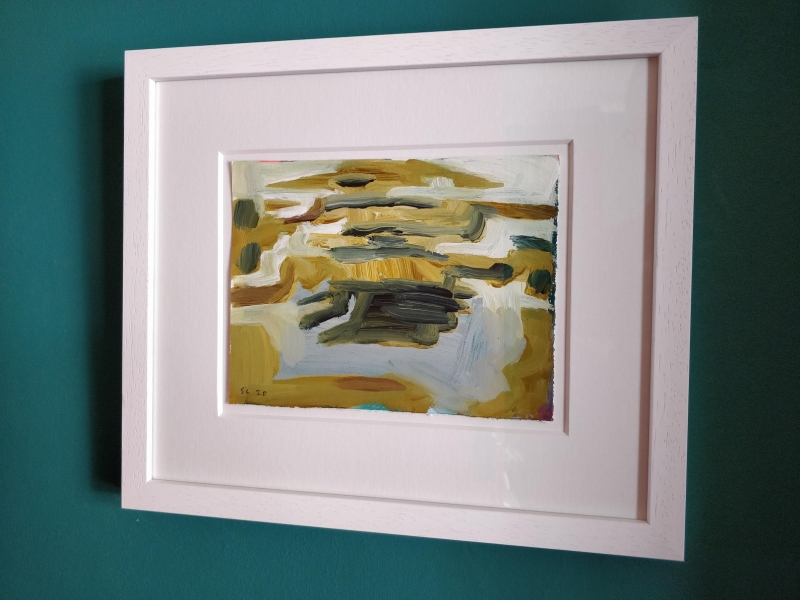 Saltings and Island (framed)