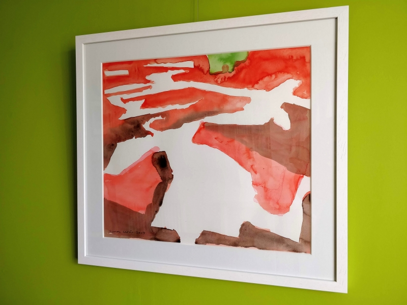 Red Saltings, Beaumont (framed)