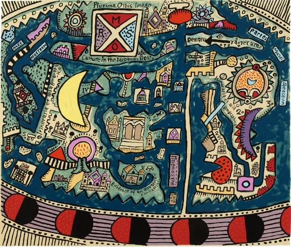 Fantasy Island by Alan Davie  RA (1920 - 2014)
