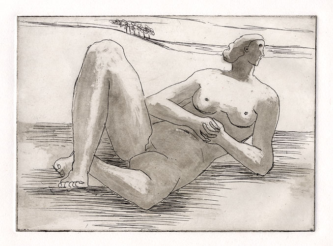 Reclining Nude by Sir Henry Moore (1898 - 1986)
