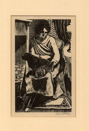 Babs by John Nash CBE RA (1893 - 1977)
