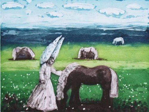 The Angel and the Horse by Karolina Larusdottir (1944)