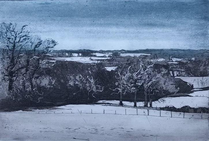 Dedham Vale, Winter by Kit Leese