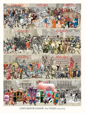 Lord Mayors Show 800 years 1215 to 2015
